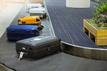 Suit Case On Luggage Conveyor ...