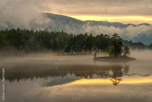 Fotobehang Scandinavië Norwegen Landschaft
