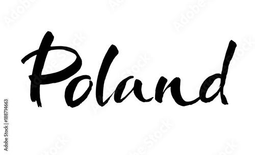 Fotografía  Poland hand lettering