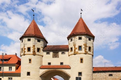 Photo Türme des Nabburger Tor in Amberg, Bayern, Deutschland