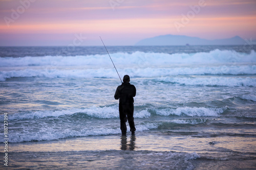 Fotografie, Obraz  Beach Fishing