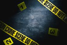 Crime Scene With Dramatic Ligh...