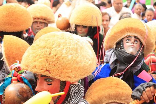 "Fotografie, Obraz  ""Parachicos"" on the celebration of ""Niño de Atocha"" in Chiapa de Corzo, Mexico"