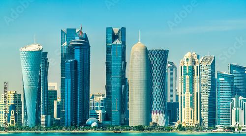 Staande foto Midden Oosten Skyline of Doha, the capital of Qatar.