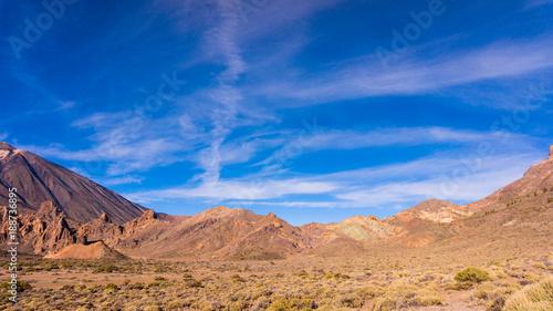 Poster Canarische Eilanden landscape with mount Teide in Teide National Park - Tenerife, Canary Islands