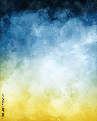 Plakat do sypialni -  chmura i mgła w abstrakcyjnym wydaniu
