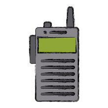 Walky Talky Isolated Icon Vect...