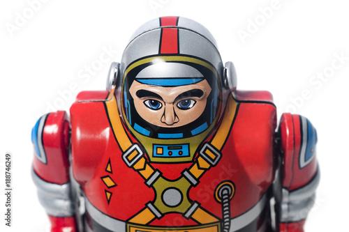 Photo Vintage tin robot toy