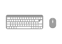 Keyboard And Mouse Vector Icon...