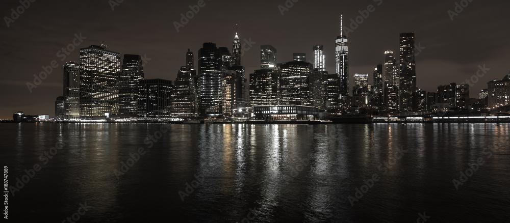 Fototapeta New York City Skyline bei Nacht