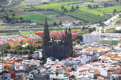 Photo Arucas and the Templo Parroquial de San Juan Bautista on Gran Canaria Island, Ca