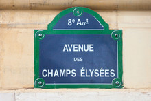 Street Sign Indicating Champs ...