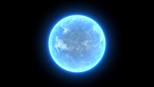 Abstract Energy Ball Science Background Blue