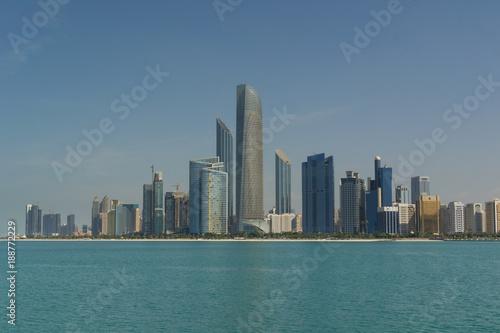 Abu Dhabi Cityscape view on Nov 13 2017