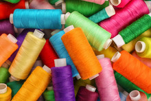 Set Of Colorful Sewing Threads...