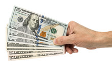 Hand Holding Money Dollars,  I...