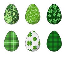 Happy Easter.Set Of Easter Egg...
