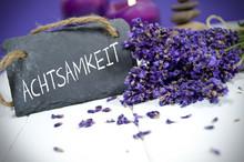 Lavendel Mit Kreidetafel Und A...