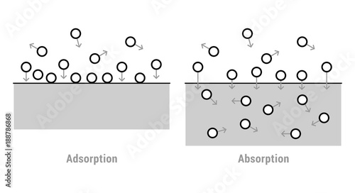 Photo Scheme of absorption and adsorption