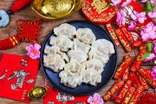 Chinese Jiaozi New Year Food, ...