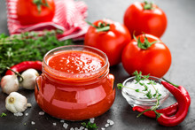 Tomato Paste, Puree In Glass J...