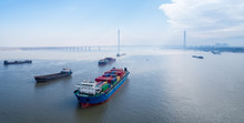Container Ships On Yangtze Riv...