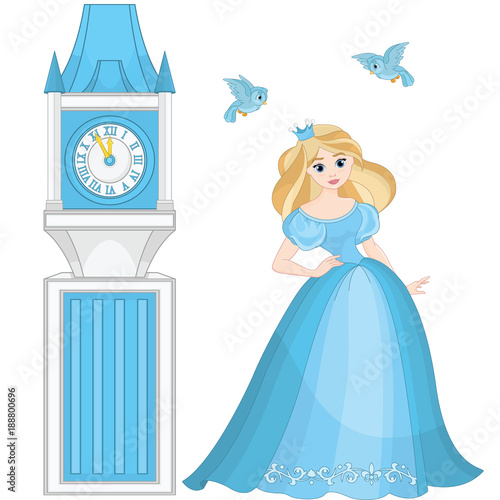 In de dag Sprookjeswereld Cinderella and Clock Tower