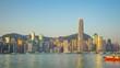 Timelapse video of morning in Hong Kong city skyline Time Lapse 4K