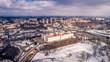 Zimowy Lublin z lotu ptaka
