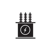 Electric Transformer Vector Icon