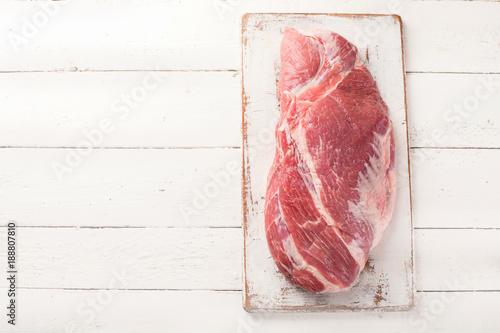 Door stickers Meat Raw pork meat