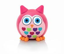 Owl Toy Isolated On White Back...