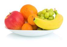 Bowl Of Fresh Fruits Isolated ...