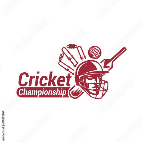 Fotografía  Cricket Championship with creative design illustration.