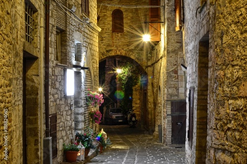 Medieval street in Assisi, Italy © Massimo Parisi