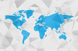 Low poly map of World. Polygonal vector design in blue and grey.