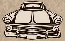 CAR RETRO ISOLATED POSTER 1