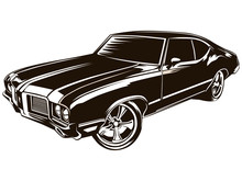 Muscle Car Modern On White