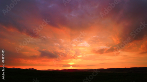 Foto op Plexiglas Crimson Abendroter Himmel