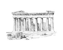 Acropolis Of Athens. The Parth...