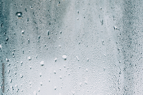 Fotografie, Tablou water drops on glass, window with condensation, close-up