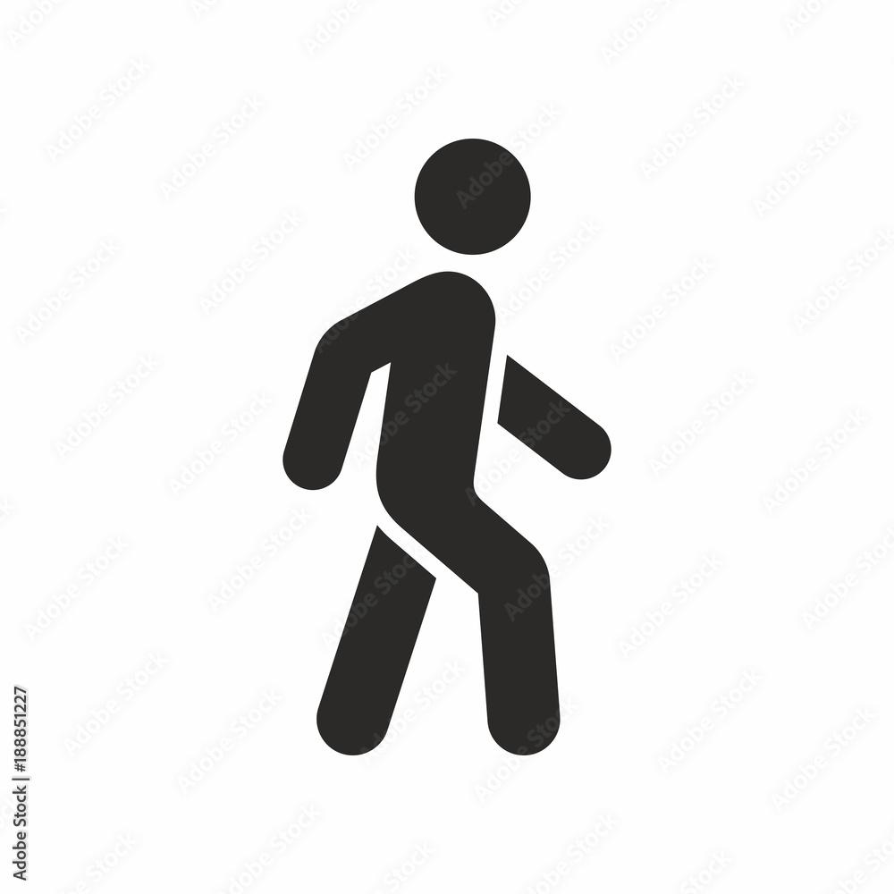 Fototapety, obrazy: Walk vector icon
