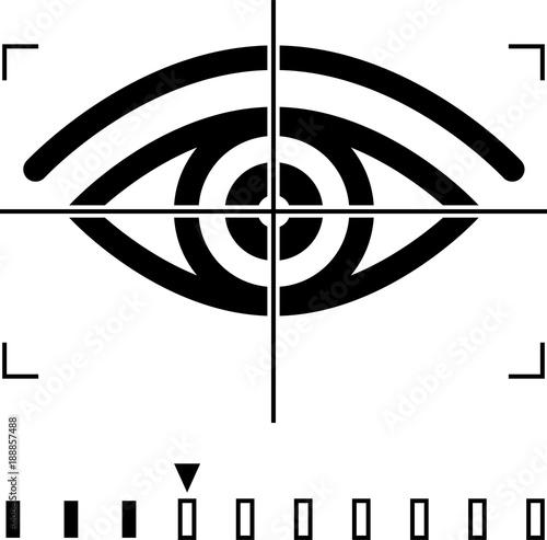 Fotografía  Retina Scan, Eye Scan Icon