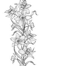 Floral Garland Seamless Patter...