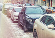 Parking used cars in winter