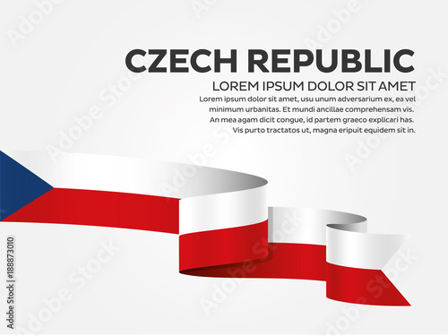 Photo  Czech Republic flag background