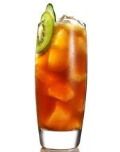 Glass Of Iced Tea With Kiwi Slice
