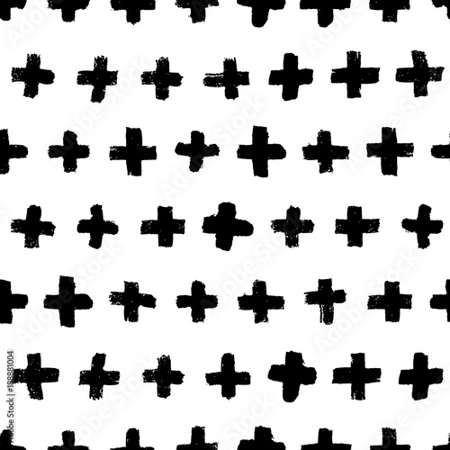 vector-hand-drawn-seamless-cross-pattern-black-and-white-ink-background-design-for-fashion-textile-print