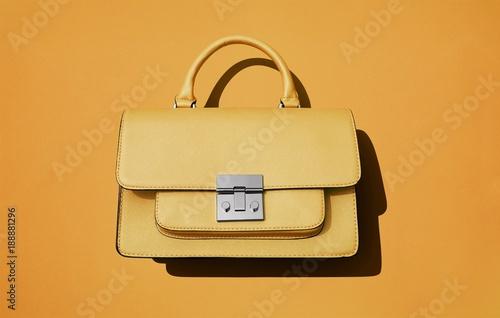 Yellow purse orange background