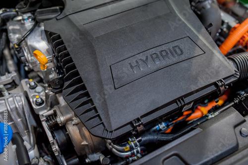 Foto hybrid car engine